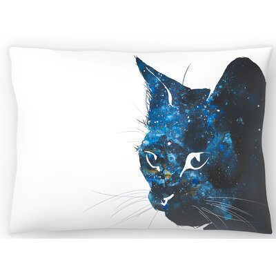 Cosmic Cat Silhouette Lumbar Pillow Size: 10