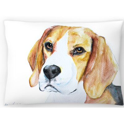 Beagle Lumbar Pillow Size: 14