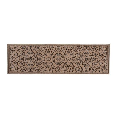 Veranda Scroll Brown/Black Indoor/Outdoor Area Rug