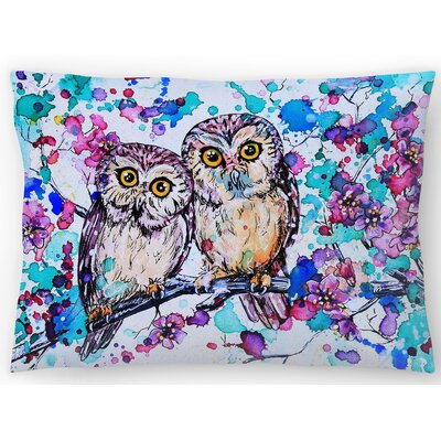 Little Owls 2 Lumbar Pillow Size: 14 x 20