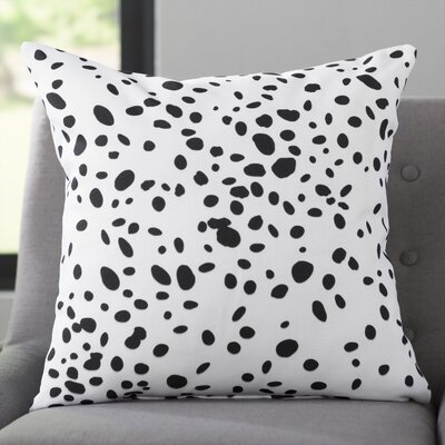 Corrales Dalmatian Spots Throw Pillow Size: 20 x 20