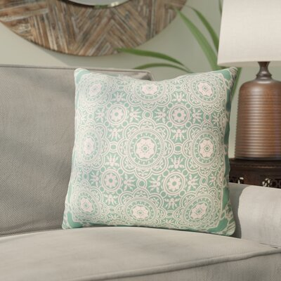 Coulson Bordered Throw Pillow Color: Sea Foam