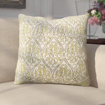Crampton Bordered Throw Pillow Color: Green