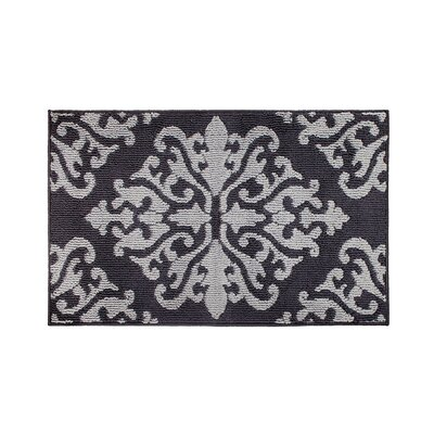 Cole Gray/Black Area Rug Rug Size: Rectangle 26 x 42
