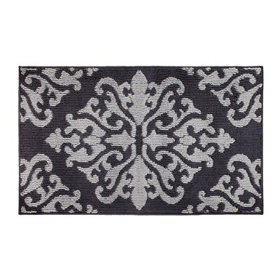 Cole Gray/Black Area Rug Rug Size: Rectangle 28 x 48