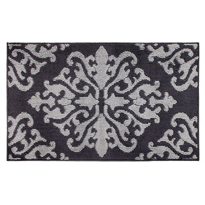 Cole Gray/Black Area Rug Rug Size: Rectangle 3 x 5