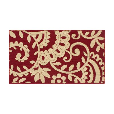 Copperfield Red/Beige Area Rug Rug Size: Rectangle 28 x 48