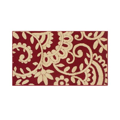 Copperfield Red/Beige Area Rug Rug Size: Rectangle 26 x 42