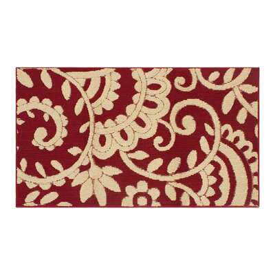 Copperfield Red/Beige Area Rug Rug Size: Rectangle 3 x 5