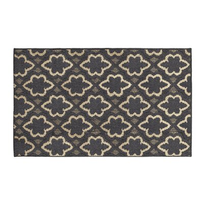 Ardal Dark Gray/Beige Area Rug Rug Size: Rectangle 28 x 48