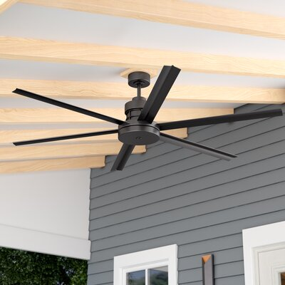 72 Aube 6 Blade Ceiling Fan Finish: Espresso