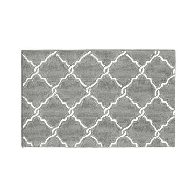 Yohan Gray/White Area Rug Rug Size: Rectangle 26 x 42