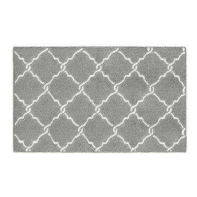 Yohan Gray/White Area Rug Rug Size: Rectangle 28 x 48
