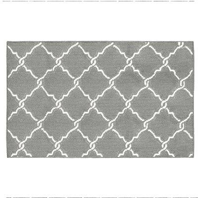 Yohan Gray/White Area Rug Rug Size: Rectangle 3 x 5