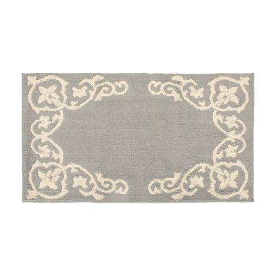 Rainer Light Gray/Ivory Area Rug Rug Size: Rectangle 28 x 48