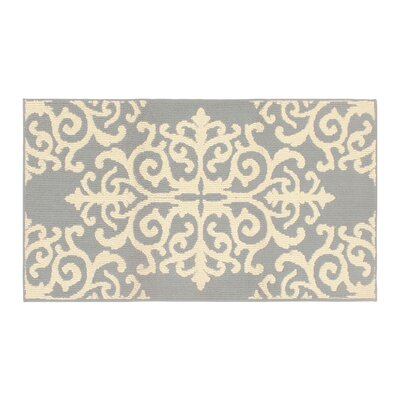 Are Gray/Ivory Area Rug Rug Size: Rectangle 3 x 5