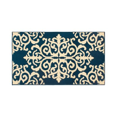 Are Blue/Ivory Area Rug Rug Size: Rectangle 26 x 42