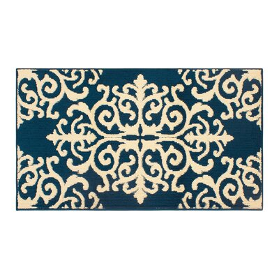 Are Blue/Ivory Area Rug Rug Size: Rectangle 3 x 5