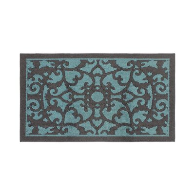 Aren Blue/Dark Gray Area Rug Rug Size: Rectangle 26 x 42