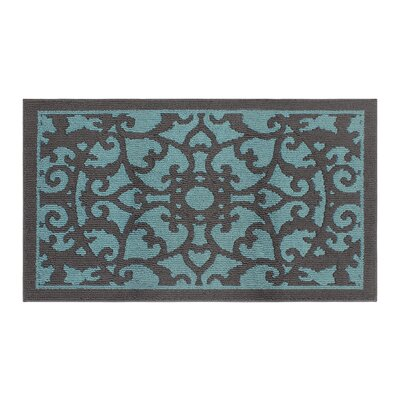 Aren Blue/Dark Gray Area Rug Rug Size: Rectangle 3 x 5