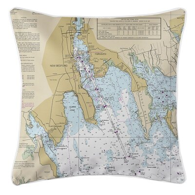 Weesner MA Nautical Chart Throw Pillow