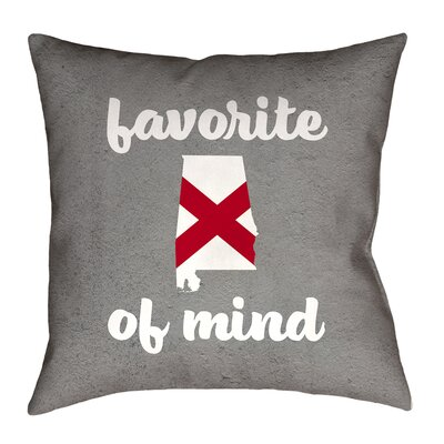 Brumit Alabama State of Mind Indoor/Outdoor Pillow