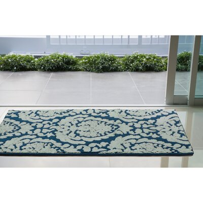 Arend Blue/White Area Rug Rug Size: Rectangle 26 x 42