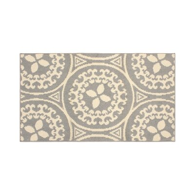 Raines Ivory/Gray Area Rug Rug Size: Rectangle 26 x 42