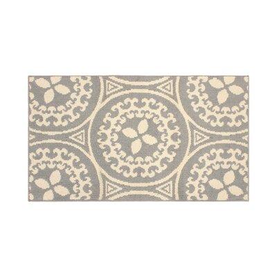 Raines Ivory/Gray Area Rug Rug Size: Rectangle 26 x 42