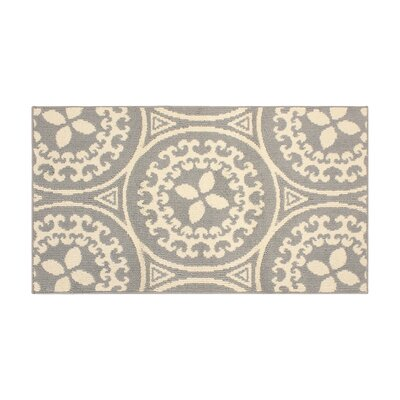 Raines Ivory/Gray Area Rug Rug Size: Rectangle 28 x 48