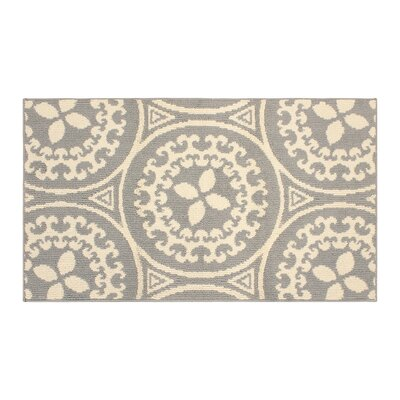 Raines Ivory/Gray Area Rug Rug Size: Rectangle 3 x 5