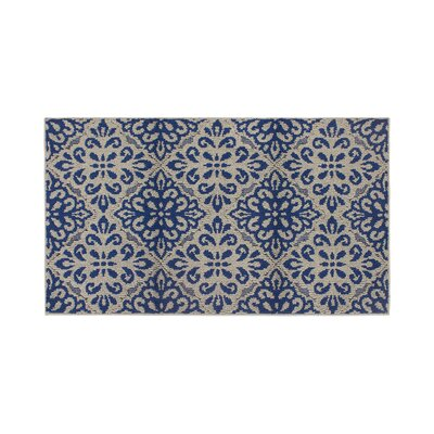 Rainey Gray/Blue Area Rug Rug Size: Rectangle 26 x 42