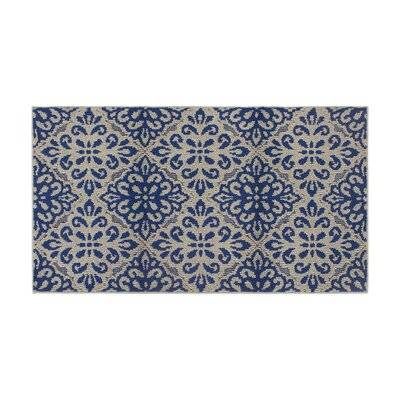 Rainey Gray/Blue Area Rug Rug Size: Rectangle 28 x 48
