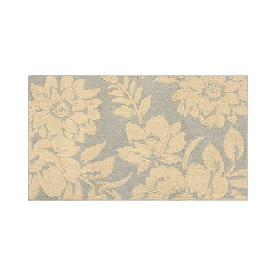 Rainville Ivory/Gray Area Rug Rug Size: Rectangle 26 x 42