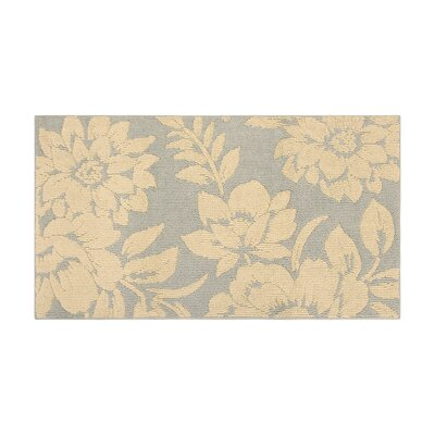 Rainville Ivory/Gray Area Rug Rug Size: Rectangle 28 x 48