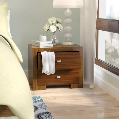 Bruges 2 Drawer Nightstand Color: Teak