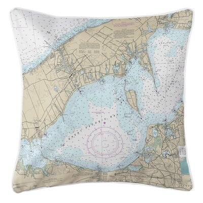 Weiler NY Nautical Chart Throw Pillow