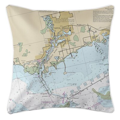 Weidler Springs FL Nautical Chart Throw Pillow