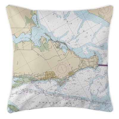 Wegner TX Nautical Chart Throw Pillow