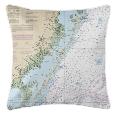 Weimer NJ Nautical Chart Throw Pillow