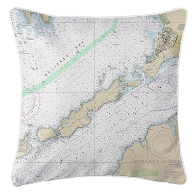 Wein MA Nautical Chart Throw Pillow