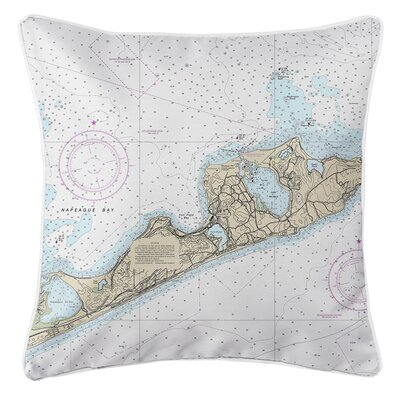 Wehr NY Nautical Chart Throw Pillow