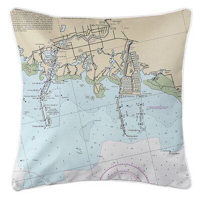 Weigel FL Nautical Chart Throw Pillow