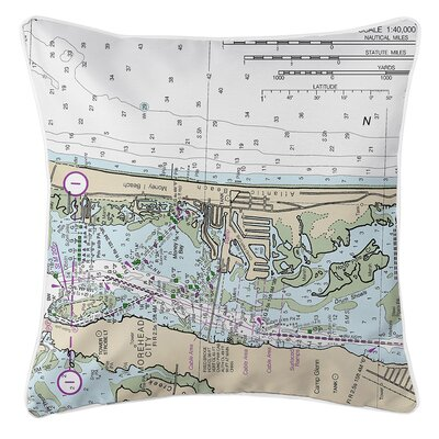 Wehner NC Nautical Chart Throw Pillow