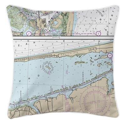 Wehmeyer NC Nautical Chart Throw Pillow
