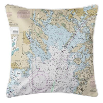 Weinberg MA Nautical Chart Throw Pillow