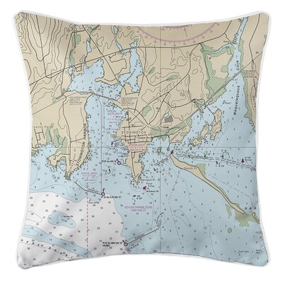 Weigand CT Nautical Chart Throw Pillow