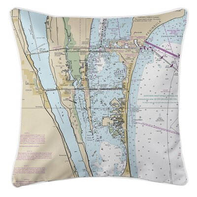 Wegener Merritt Island Canaveral Wegener Beach FL Nautical Chart Throw Pillow