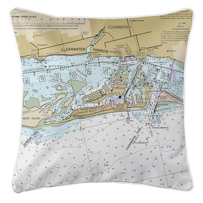 Weiland Beach FL Nautical Chart Throw Pillow