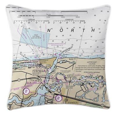Weigle Nautical Chart Throw Pillow